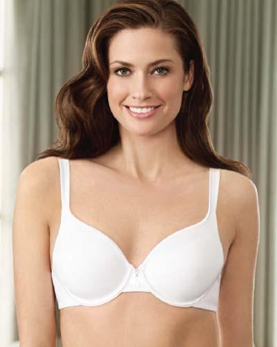 NWD Vanity Fair Bra 36B White Body Caress Full Coverage Contour Bra 75335 #69441