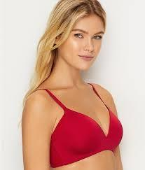New Wacoal 32D Ultimate Side Smoother Wire Free T-Shirt Bra 852281 Red #69757