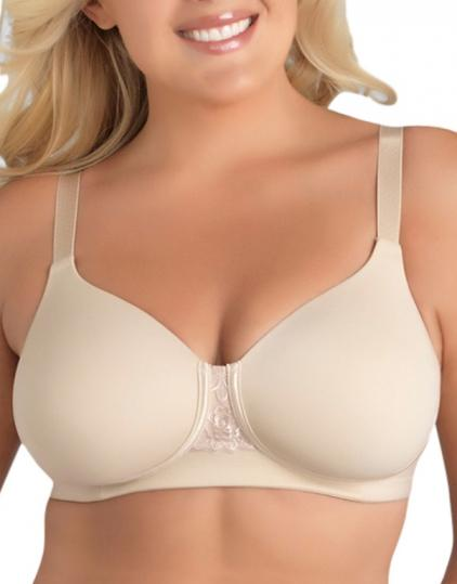 NWOT Vanity Fair 44B Full-Figure Back-Smoothing Wire Free Bra 71380 Beige #72234