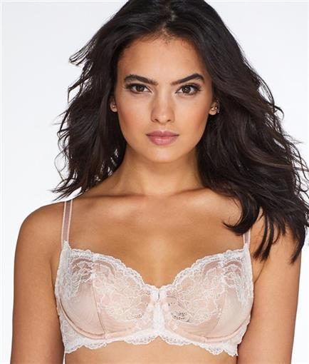 NEW Wacoal 38C Lace Affair Underwire Bra 851256 Pink White #75680