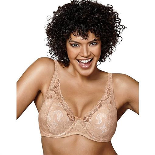 NEW Playtex Love My Curves Lace Underwire Bra 4514 Beige 38DDD #76343