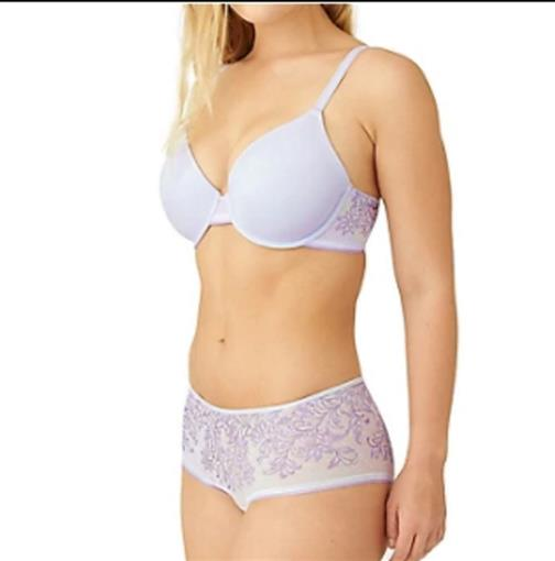 NEW Wacoal 38D Net Effect Underwire T-Shirt Bra 853340 Purple 76616