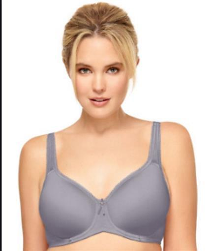 NWT Wacoal 34D Basic Beauty Contour Spacer Bra 853192 Gray #76729