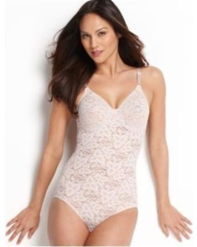 NWT Bali Shapewear 36DD Firm Control Lace N Smooth Body Shaper 8L10 White #76822
