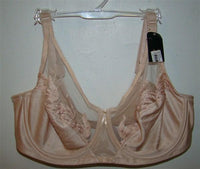 NEW Wacoal 40B Feather 85121 Embroidery Underwire Bra Beige #77354