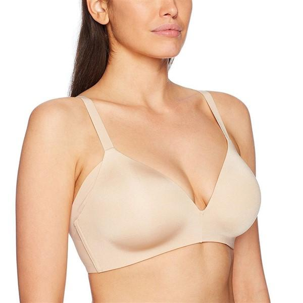 New Wacoal 36DD Ultimate Side Smoother Wire Free T-Shirt Bra 852281 Beige #77513