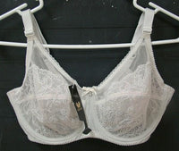 NWT Wacoal Chantilly Lace Retro Chic 855186 Ivory 32DDD Bra #79014