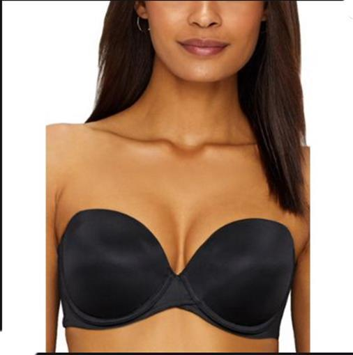 NWOT Maidenform 38B Love the Lift Strapless Push-Up Bra DM9903 Black #75838