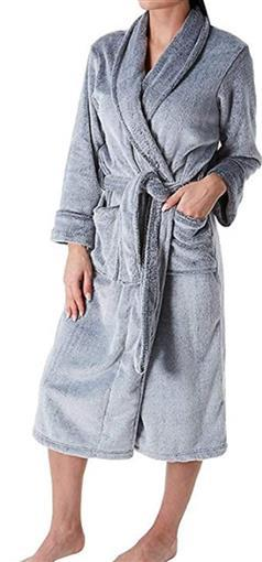 NEW Natori Fleece Cash Robe Gray Blue Small HC0128 #77056