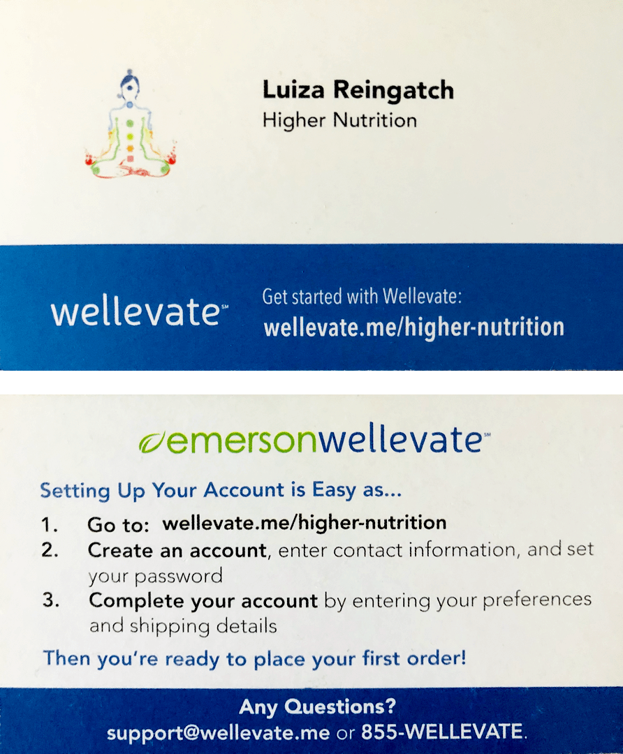 Wellevate business card