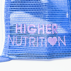 Higher Nutrition Baseball Hat Side Closeup