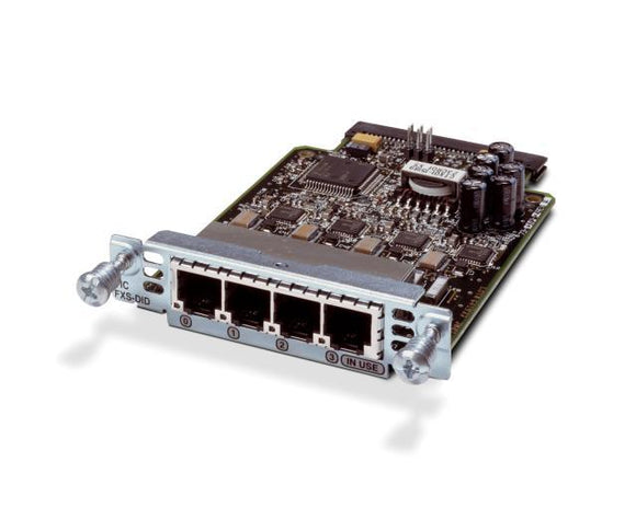 Cisco 4-Port Voice Interface Card with FXS & DID (VIC3-4FXS/DID)