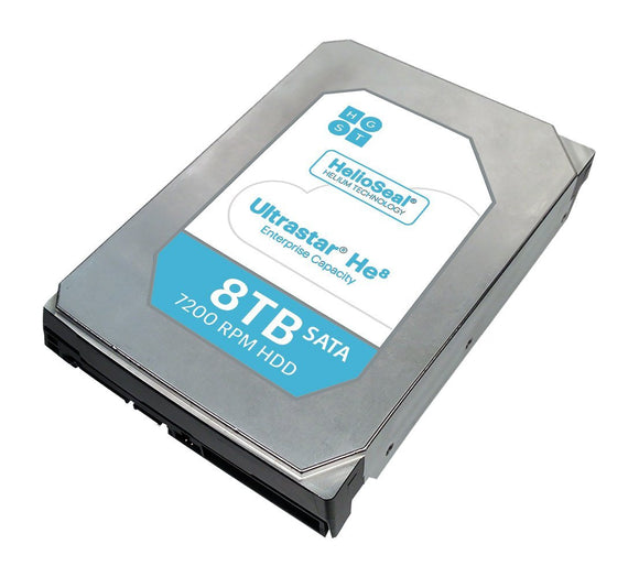 HGST Ultrastar HUH728060ALE600 He8 8 TB Internal SATA 6GB/s 128MB HDD ‐ 3.5
