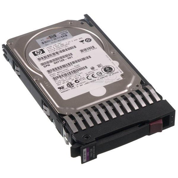 HP DG0146FAMWL 146GB 10000rpm 2.5inch SAS 6gbps Hot Swap Dual Port Hard Disk Drive with Tray