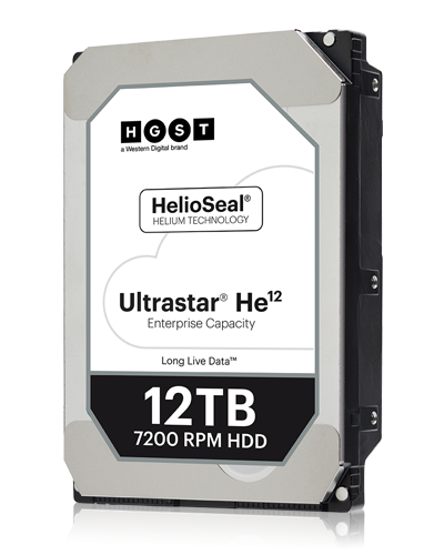HGST Ultrastar He12 12 TB Internal SAS 12Gb/s 256MB HDD - HUH721212AL5200 (HUH721212AL5200)