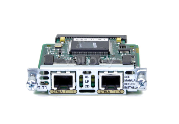 Cisco 2-Port RJ48 Multiflex Trunk Voice / WAN Interface Card (VWIC-2MFT-T1)