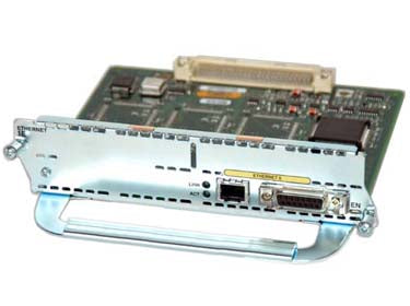 Cisco 1-Port 10/100 Ethernet w/ 2 WAN Card Slot Network Module v2 (NM-1FE2W-V2)