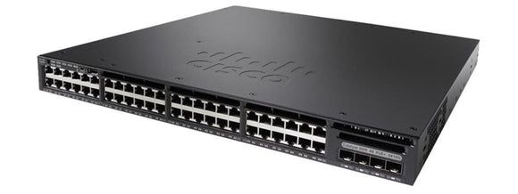 WS-C3650-48PS-E Cisco Catalyst 3650 48-port GigE PoE+ Switch with 4x GigE SFP Uplinks, IP Services