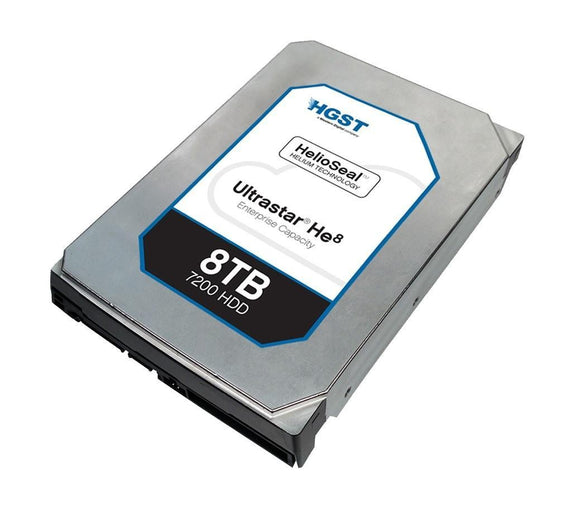 HGST Ultrastar HUH728080ALN600 He8 8 TB Internal SATA 6Gb/s 128MB HDD ‐ 3.5