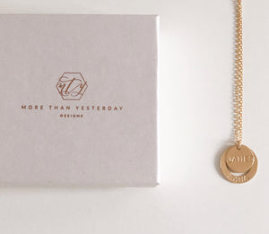 Gold Duo Washer Necklace