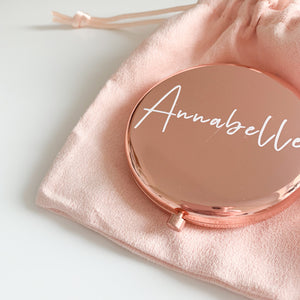 Personalised Rose Gold Mirror