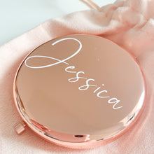 Load image into Gallery viewer, Personalised Rose Gold Mirror