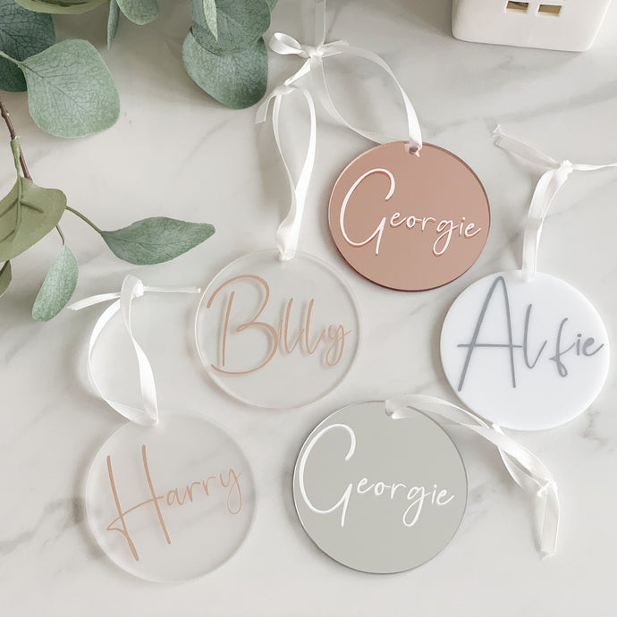 Personalised Name Bauble Decoration