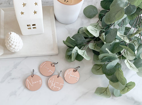 Personalised Rose Gold Keyring