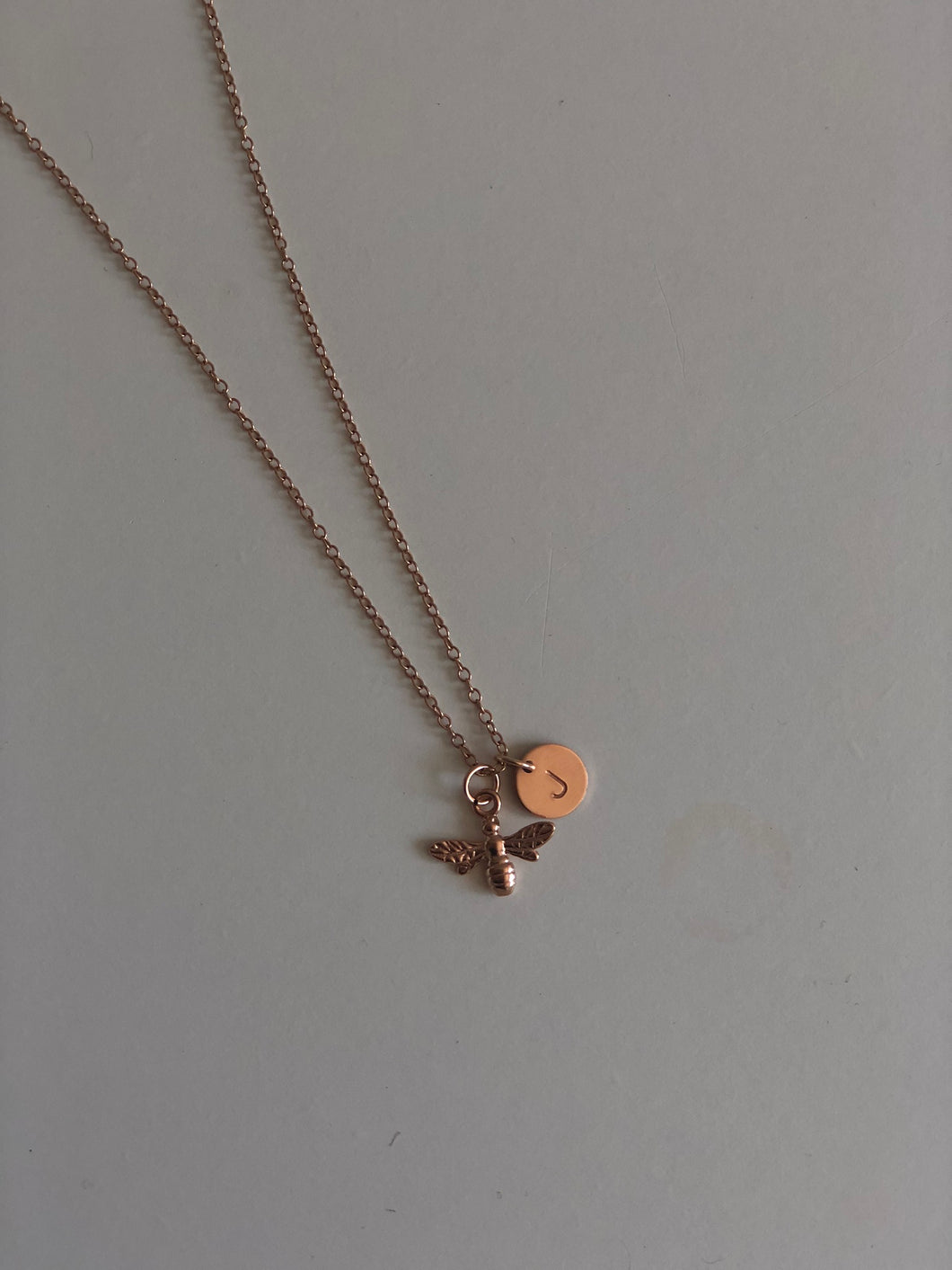 Bumble Bee Necklace - Rose Gold or Silver