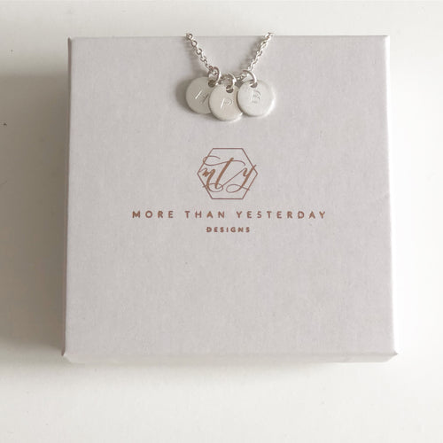 Initials Disc Necklace