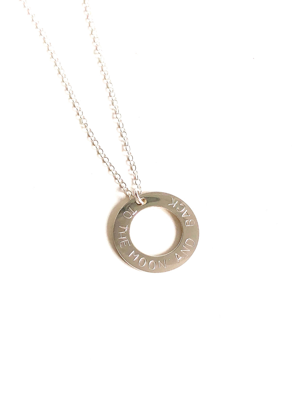 Personalised Washer Necklace- Large