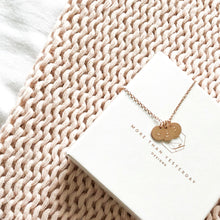 Load image into Gallery viewer, Rose Gold Initials Necklace