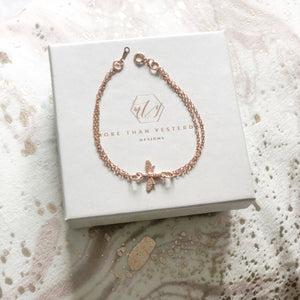 Bumble Bee Bracelet - Rose Gold or Silver