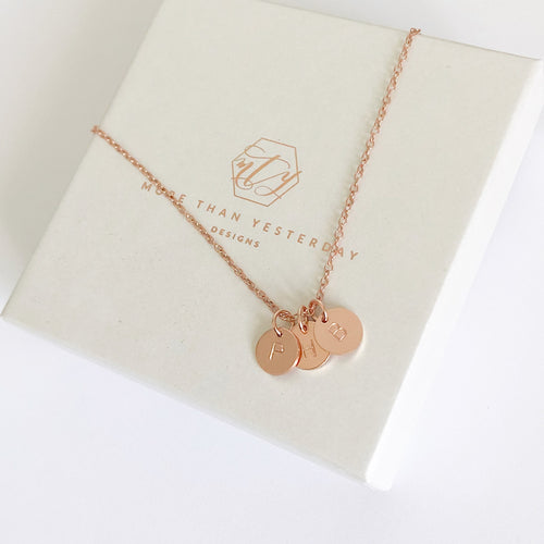 Rose Gold Initials Necklace
