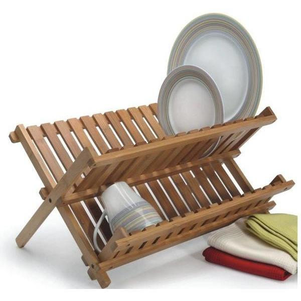 Bamboo Collapsible Dish Rack