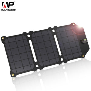 ALLPOWERS 21W Mobile Phone Charger Dual USB 5V 4A Solar