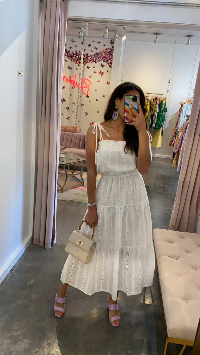 Everlasting love maxi dress- white