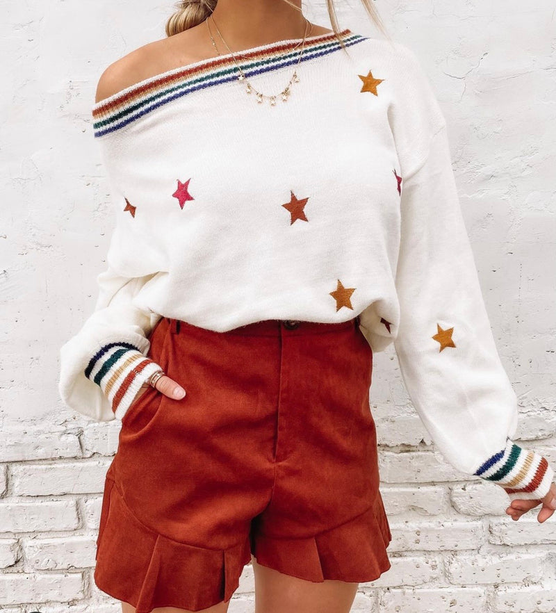 Retro star sweater