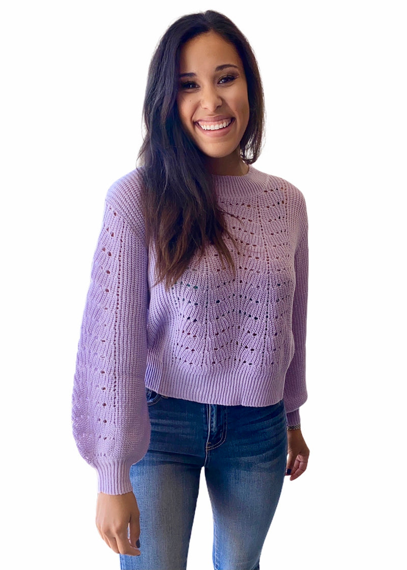 Billie lavender sweater