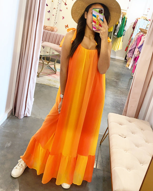 Sunset ombré maxi dress