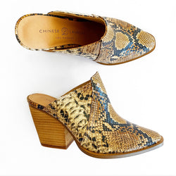 Beaute mars snake mule- bronze/tan