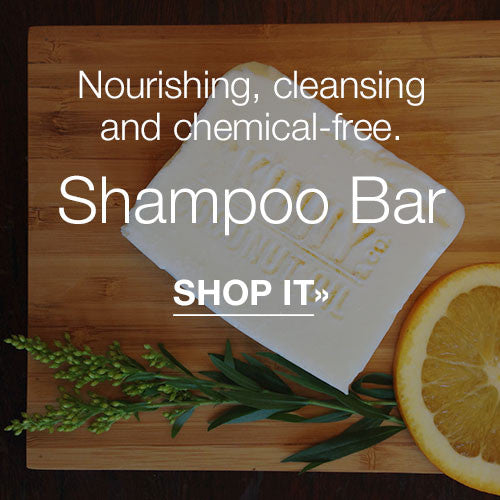 Nourishing, cleansing and chemical-free Shampoo Bar.  SHOP IT»