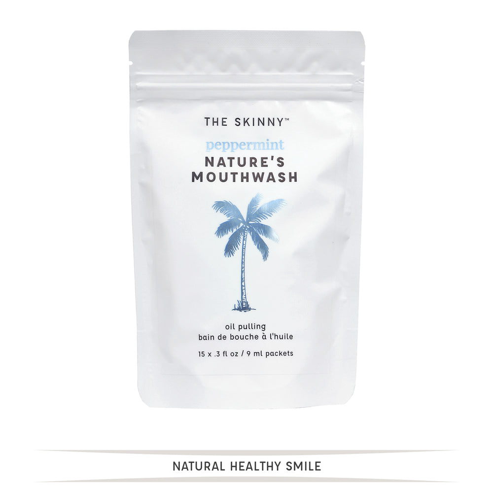 Nature's Mouthwash Peppermint Packets - The Skinny - Skincare Reimagined