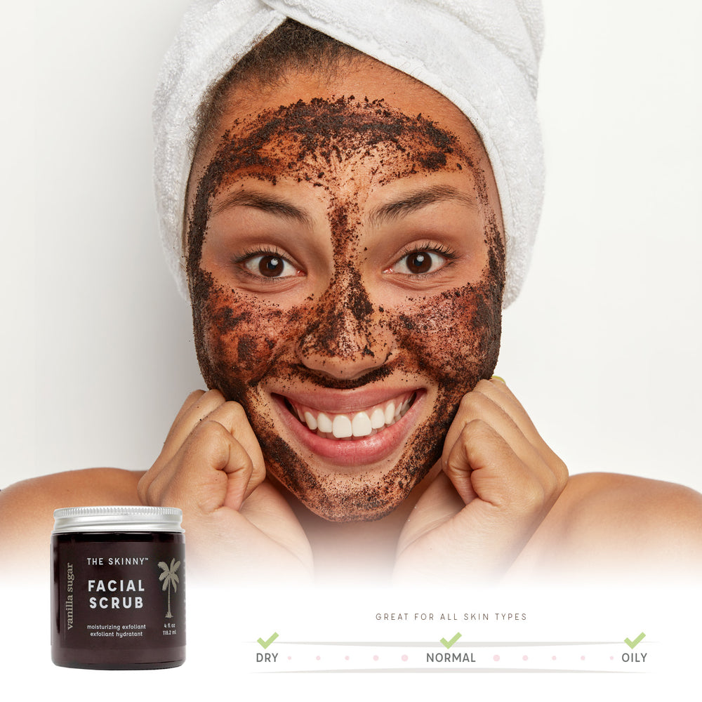 Vanilla Sugar Facial Scrub - The Skinny - Skincare Reimagined