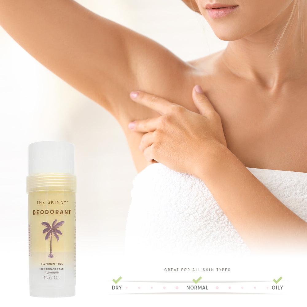 Lavender Deodorant - Powerfully Active Natural Deodorant - The Skinny - Skincare Reimagined