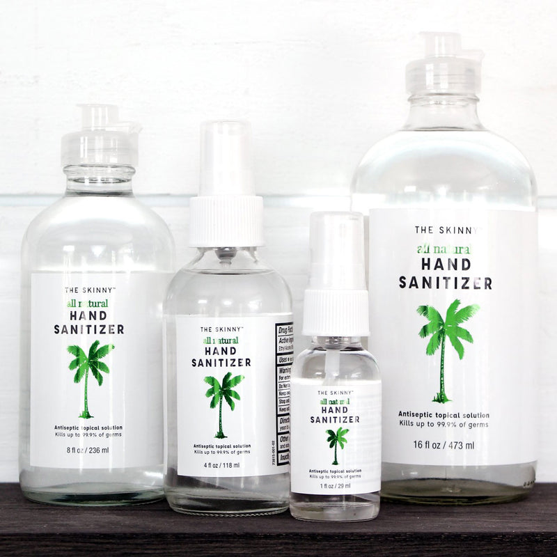 All-Natural Hand Sanitizer - Skinny & Co. Coconut Oil