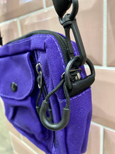 Load image into Gallery viewer, Vintage Inspired Bag Cross Body in Purple with Black Zipper Details