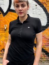 Load image into Gallery viewer, Vintage 90s Lacoste Polo Shirt in Black in S