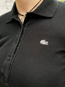 Vintage 90s Lacoste Polo Shirt in Black in S