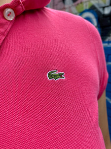 Vintage 90s Lacoste Polo Shirt in Pink in S